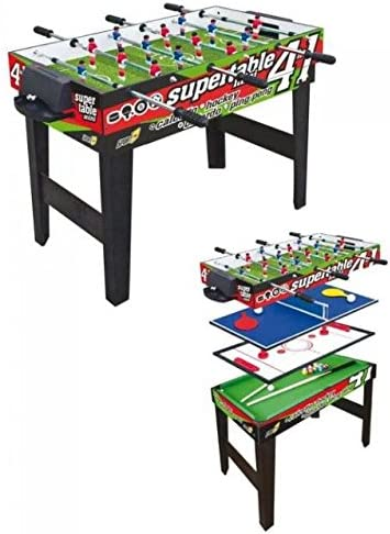 Sport One Mesa multijuego Mini Supertable – 4 Juegos en 1: Amazon ...