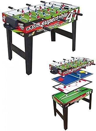 Sport One Mesa multijuego Mini Supertable – 4 Juegos en 1: Amazon.es: Deportes y aire libre