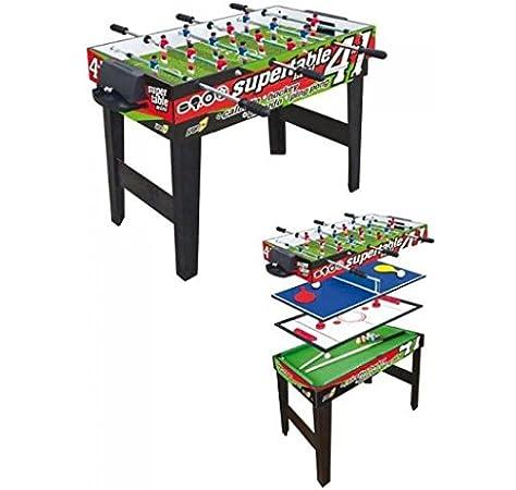 Sport One Mesa multijuego Mini Supertable – 4 Juegos en 1: Amazon ...
