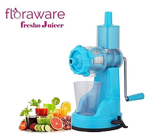 Floraware® Fruit & Vegetable Steel Handle Juicer with Vaccum Locking System, Sky Blue