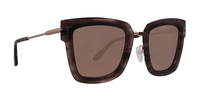 acb208ef6c Image Unavailable. Image not available for. Color  Sunglasses Tom Ford FT  0573 Lara- 02 55Z coloured havana ...