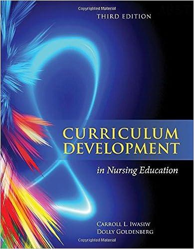 Curriculum Development In Nursing Education Carroll L. Iwasiw and Dolly Goldenberg