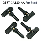 Guteauto 4 PCS For Ford Motorcraft Tire Pressure Monitoring Sensors Valve Module TPMS12 DE8T-1A180-AA