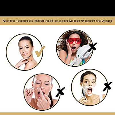 Facial Hair Epilator Threading Tool For Women Effectively Remove Unwanted Face Hair Without The Use of Tweezers or Expensive Laser Treatment, Waxing & Threading Systems