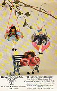 "H-161 Christina's Playmates: Two Styles of Hair-do and Two Choices of Swings for a 8"" Cloth Doll"