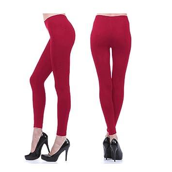 b5948542d5b00 Amazon.com: Seamles Leggings Capri Fleece Lined Thick Tights Warm ...