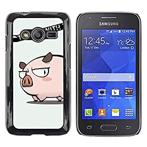 LECELL -- Funda protectora / Cubierta / Piel For Samsung Galaxy Ace 4 G313 SM-G313F -- Cute Don't Mess Pig --