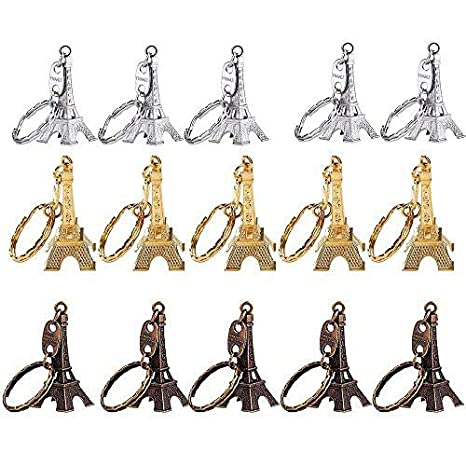 Mydio - Llavero de torre Eiffel (15 unidades), diseño de recuerdo francés