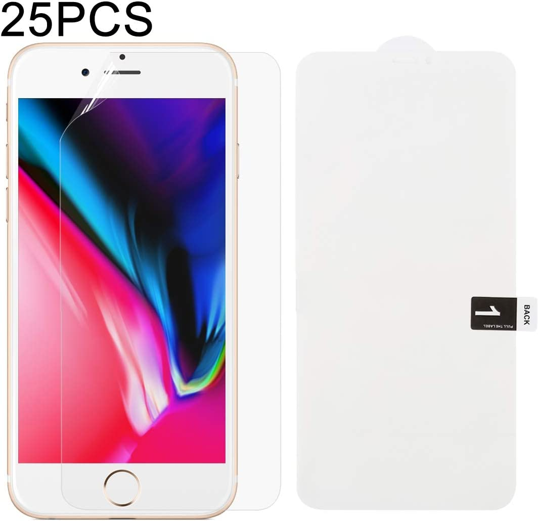8 Plus Scratch Card for iPhone 7 Plus JIANGNIUS Phone Front Protector 25 PCS Soft Hydrogel Film Full Cover Front Protector with Alcohol Cotton