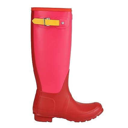 5c3669550d1 Amazon.com: Hunter Women's Original Colorblock Tall Rain Boots ...