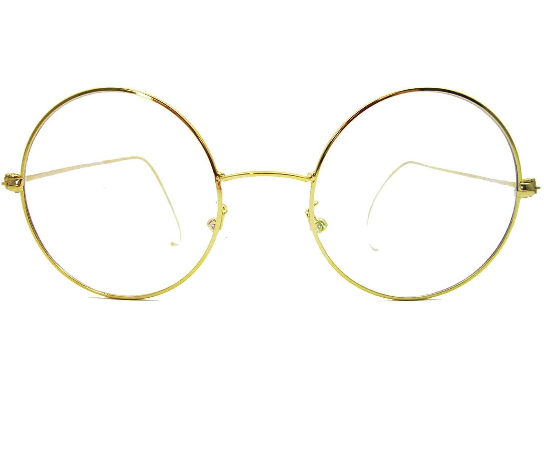 Agstum Retro Round Optical Rare Wire Rim Eyeglasses Frame 48mm
