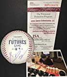 Rafael Devers Boston Red Sox Autographed Signed 2015 FUTURES GAME Baseball Proof JSA COA