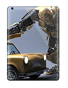 Hot Design Premium CLo10352QAyN Tpu Cases Covers Ipad Air Protection Cases(robot Character)