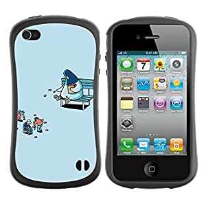 fashion Case for Apple iPhone 5c for kids / Pigeon Feeding Humans