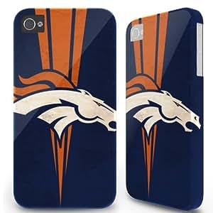 5.5 inch Iphone 6 Plus 6plus Hard Case Cover - Denver Broncos Vcenter Blue