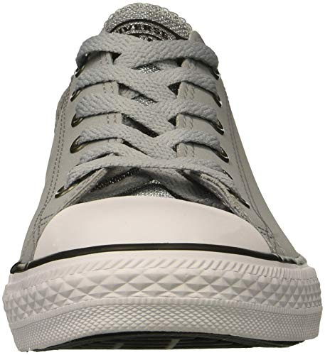 blanco Converse wolf Cuero Gris Entrenadores white Ctas Ox Grey Youth negro black Aq0Awg