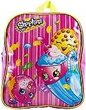 Shopkins Girls Junior Backpack Childrens Rucksack School Bag (Pink Stripes)