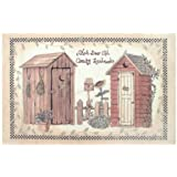 Amazon.com: Outhouses Bath Set, 5 Piece | Country Decor Shower ...