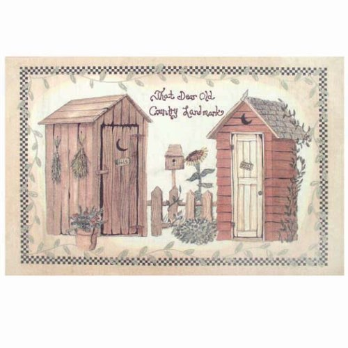 - Avanti Linens Outhouses Rug, Multi