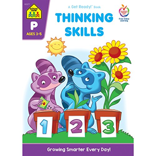 School Zone - Thinking Skills Deluxe Edition Workbook, Ages 3 to 5, Creativity, Logic, Eliminating, and More