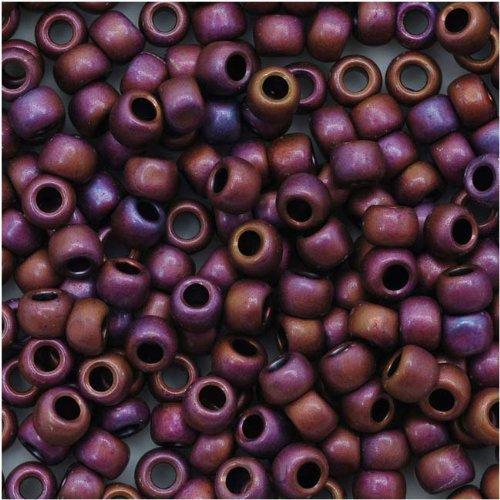 Toho Beads Treasure (Toho Round Seed Beads 8/0#703 'Matte Mauve Mocha' 8 Gram Tube)