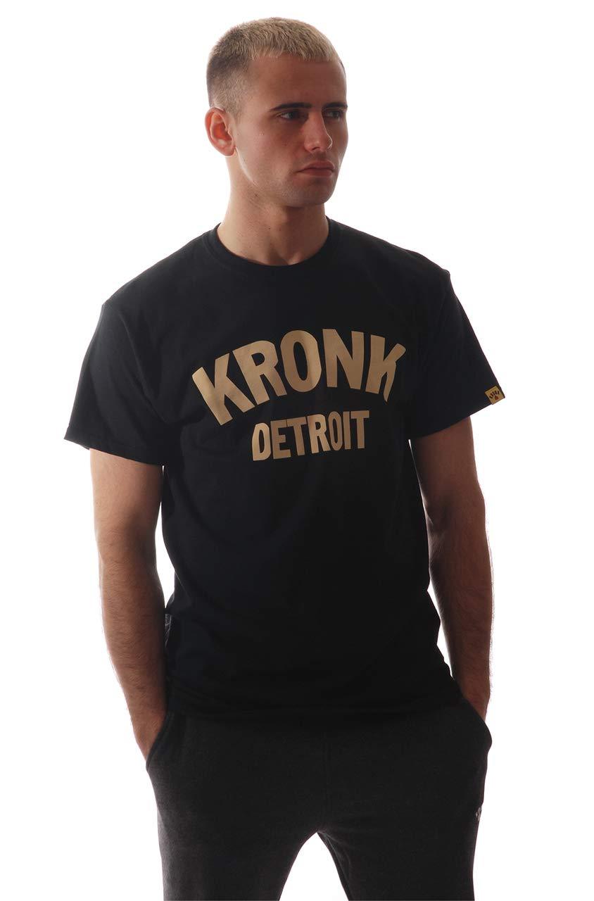 KRONK Maglietta da Uomo Detroit vestibilit/à Regolare