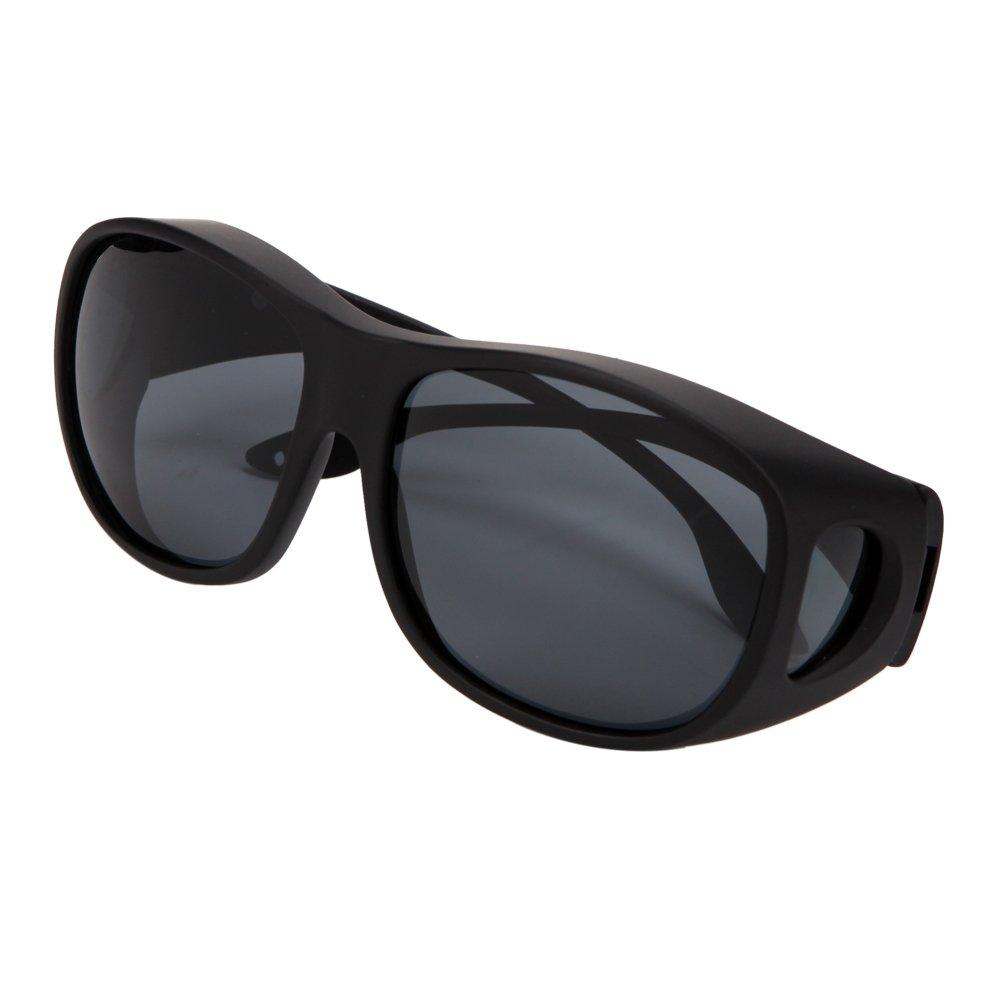 Solarfun Polarized Fit Over Glasses Sunglasses Wrap Around Solar Reduce Shield for Men and Women's Driving,Black by Solarfun (Image #6)