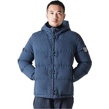 6b388557c63a8 Abrigos Chaquetas Chaqueta corta de algodón para hombres chaqueta juvenil  con capucha ropa de algodón casual algodón acolchado chaqueta de algodón  para ...