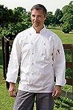 Uncommon Threads Unisex-Adult's Plus Size Executive Chef Coat WHT 3XL, White