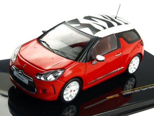 1/43 シエトロンDS3 スポーツシック 2011 レッド/ホワイト MOC122