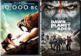 Dawn of Planet of the Apes & 10,000 B.C. DVD Sci-Fi Adventure Set