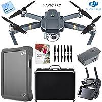 DJI Mavic Pro Quadcopter Drone with 4K Camera, Custom Hard Case, 2TB Fly Drive Kit