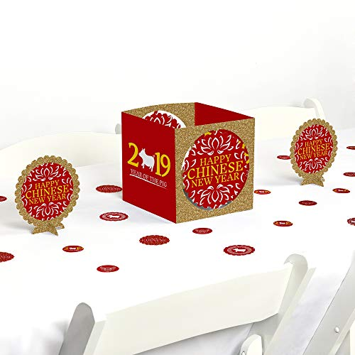Chinese New Year - 2019 Year of The Pig Party Centerpiece and Table Decoration Kit