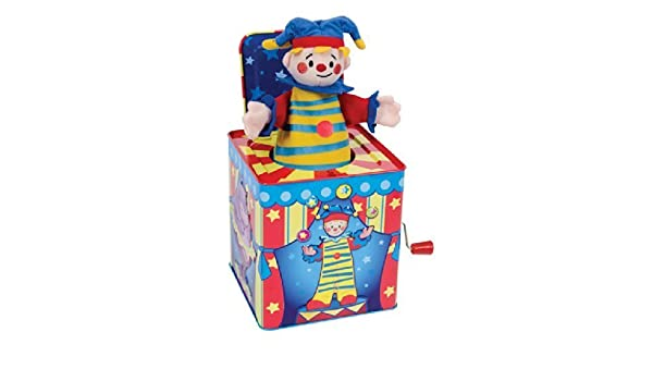 Silly Circus Clown JACK IN THE BOX Musical Classic Toy Pop Goes The Weasel by Schylling: Amazon.es: Juguetes y juegos