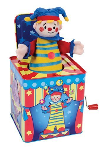 Silly Circus Clown JACK IN THE BOX Musical Classic Toy Pop Goes The Weasel