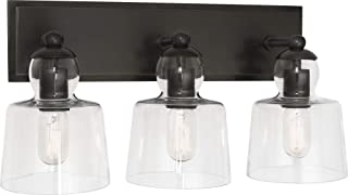 product image for Robert Abbey Z744 Albert - Three Light Wall Sconce, Deep Patina Bronze Finish with Clear Glass