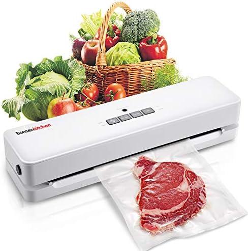 Bonsenkitchen Vacuüm Food Sealer Voor Vacuümzakken SealenVacuümmachines Apparaat