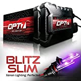 OPT7 Blitz Slim 9005 HID Kit - 3.5X Brighter - 4X Longer Life - All Bulb Sizes and Colors - 2 Year Warranty [Royal Purple Xenon Light]