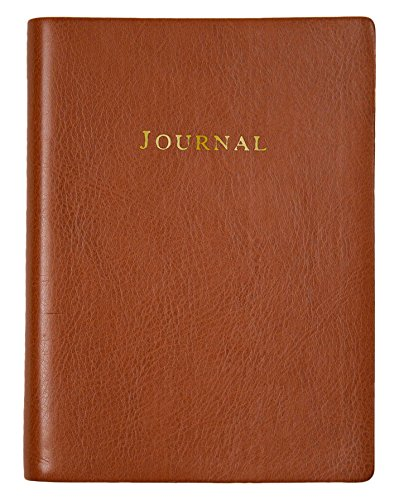 Tan Embossed Leather Journal Lined
