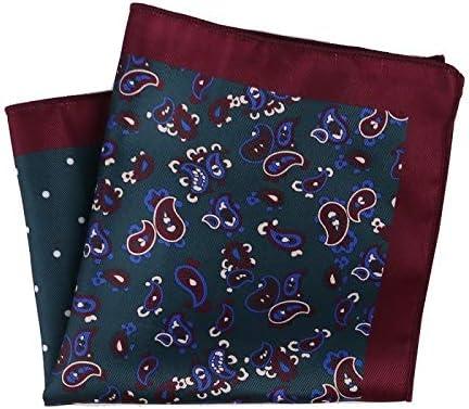 XMRB ポケットスクエアファッションハンカチドット花柄チェック柄のスタイルハンカチメンズスーツのポケットアクセサリー (色 : MPK 086)