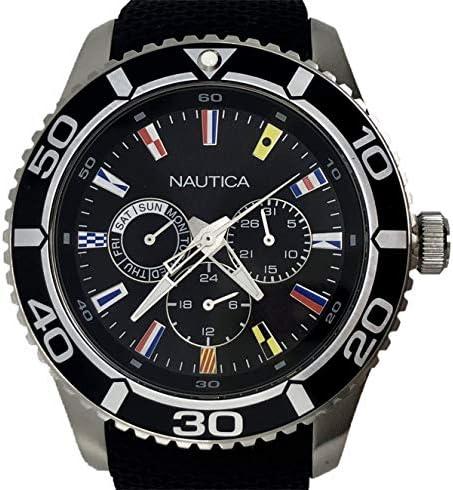 Nautica - Reloj multifunción para Hombre, Esfera Negra con ...