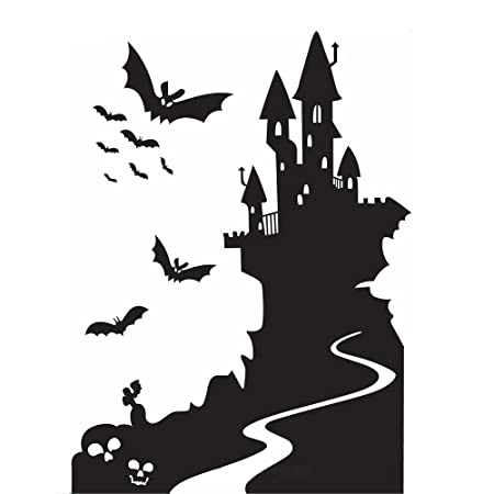 Wall etiqueta engomada de Halloween For La Habitación De Los Niños ...
