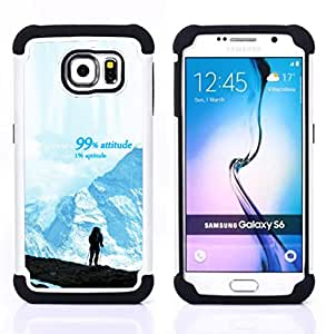 - mountains success hiking climbing blue/ H??brido 3in1 Deluxe Impreso duro Soft Alto Impacto caja de la armadura Defender - SHIMIN CAO - For Samsung Galaxy S6 G9200