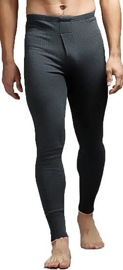 Leggings, mallas térmicas para hombre, de algodón, ropa interior de esquí Gris oscuro gris gris oscuro: Amazon.es: Ropa y accesorios