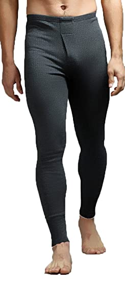 Leggings, mallas térmicas para hombre, de algodón, ropa interior