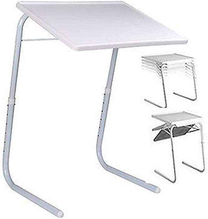 -Eternal- Home Essentials Adjustable Folding TV Tray Table with 6 Height and 3 Angle Adjustments or Eating, Laptop Dinner Tray on Bed & Sofa