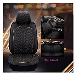 Luxury Auto Car Seat Cover In Black-Gold