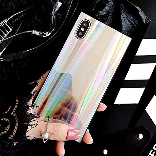 Phone case for iPhone X, shiny iridescent glitter case for iPhone X case with iridescent beam pattern Cell Phone Accessory Case (Color: T2, Size: iPhone X) (Color : T2, Size : IPhone XS Max)