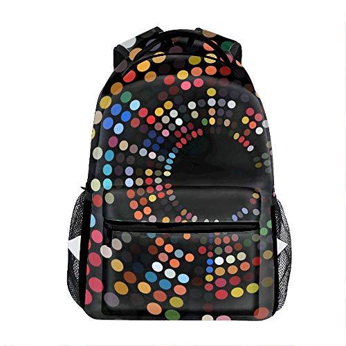 (Student Backpack School Bag Round Arrangement Print)
