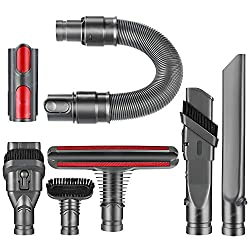 Wide Compatibility:  Compatible with Dyson V6 V7 V8 V10 DC58 DC59 Vacuum Cleaner.  Package Included: 1 x Flexi Crevice Dust Brush Tool 1 x Mattress Tool Brush  1 x Stiff bristle brush Tool  1 x Wide Nozzle Brush Tool  1 x Extension Hose 1 x Soft D...